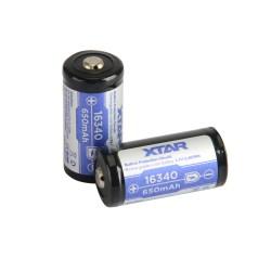 XTAR 16340 650mAh Μπαταρία με προστασία