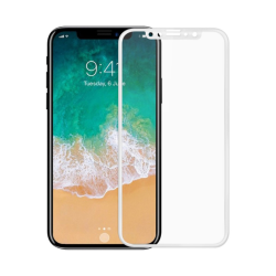 Tempered glass Full 2.5D No brand, για το iPhone X / XS / 11 Pro, 0.3mm, λευκό - 52372