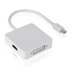Μετατροπέας Mini DP σε DVI/HDMI/VGA 10cm, DeTech, Λευκό - 18157