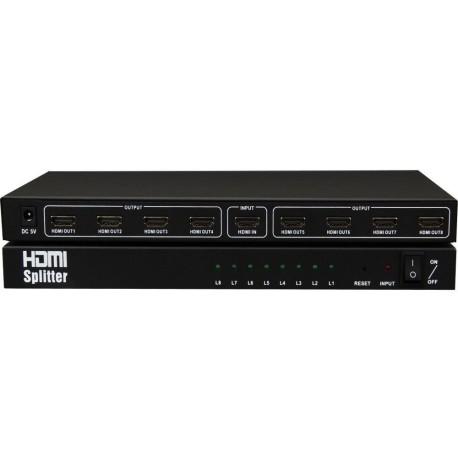 Splitter HDMI σε 8xHDMI (1.3 v) με παροχή ρεύματος, ΟΕΜ - 18264