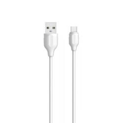 Кαλώδιο δεδομένων LDNIO LS372, Micro USB, 2.0m, Λευκό - 40073
