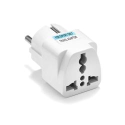 Adapter No brand WD-9, UK/US to EU Schuko, 220V, High Quality, White - 17704