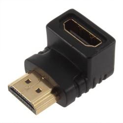 Αντάπτορας HDMI F - HDMI M Γωνία, No brand, Μαύρο - 17121