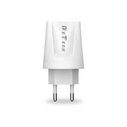 Φορτιστής δικτύου, DeTech, DE-01, 5V/2.1A, 220V, 2 x USB, λευκό - 14118