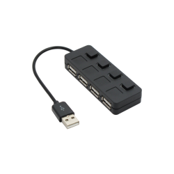 USB hub No Brand, USB 2.0, 4 θύρες, μαύρο - 12056