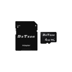 Memory card DeTech Micro SDHC-I, 4GB, Class 10 + Adapter - 62041