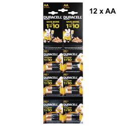 Alkaline batteries Duracell AA, LR6/MN1500, 1.5V, 12pcs. - 87048